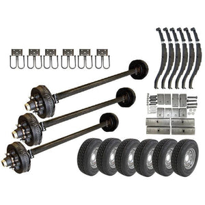 DEXTER 8k Triple Axle TK Trailer kit - 24000 lb Capacity