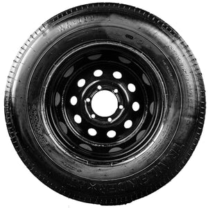 "TrailFinder 16"" 10 Ply Radial Trailer Tire & Wheel - ST235/80 R16 6 Lug (Black Mod)"