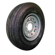 "TrailFinder 16"" 10 ply Radial Trailer Tire & Wheel - ST 235/80 R16 8 Lug (Silver Mod)"
