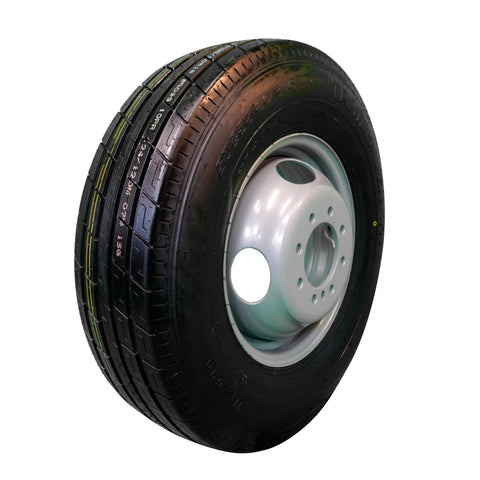 TrailFinder 16 10 ply Radial Trailer Tire and Wheel ST 23580 R16 8 lug Dual