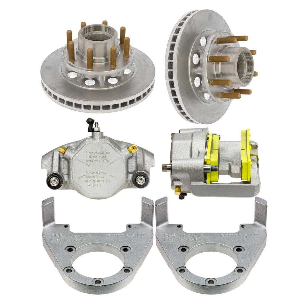 DeeMaxx 10000 lb Complete Hydraulic Axle MAXX Coated Disc Brake Set - (Hub Included) - Axis, Alko and Quality Application