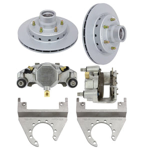 DeeMaxx 6000 lb Complete Hydraulic Axle MAXX Coated Stainless Steel Disc Brake Set - (Hub Included - 1/2 Inch Studs)