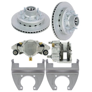 DeeMaxx 8000 lb Complete Hydraulic Axle MAXX Coated Stainless Steel Disc Brake Set - (Hub Included - 5/8th Studs) - Alko Application
