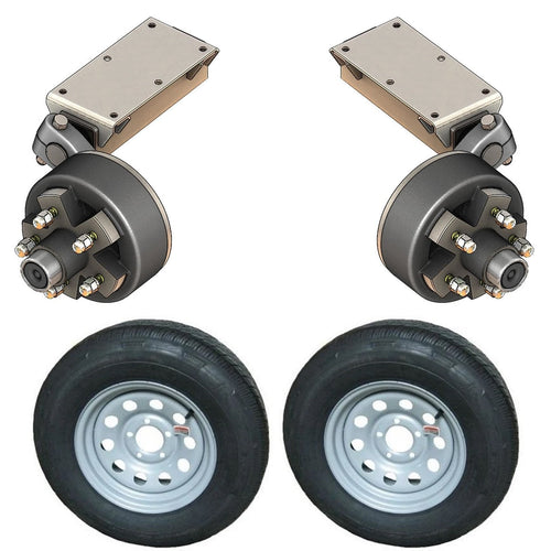 2000 lb TK Single Electric Brake Torsion Axle Trailer Kit - 2K Capacity HD (Flex Original Series)