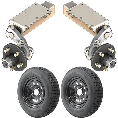 2000 lb TK Single Idler Torsion Axle Trailer Kit - 2K Capacity HD (Flex Midnight Series)