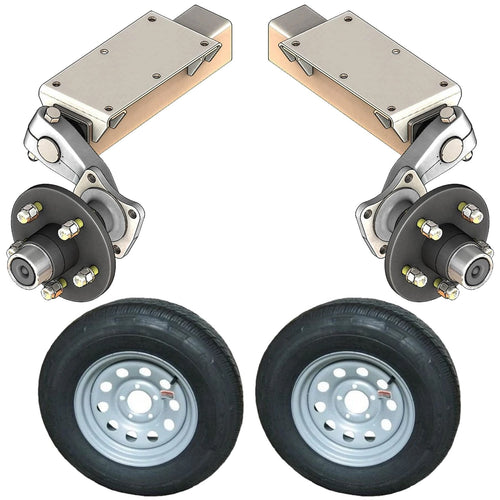 2000 lb TK Single Idler Torsion Axle Trailer Kit - 2K Capacity HD (Flex Original Series)
