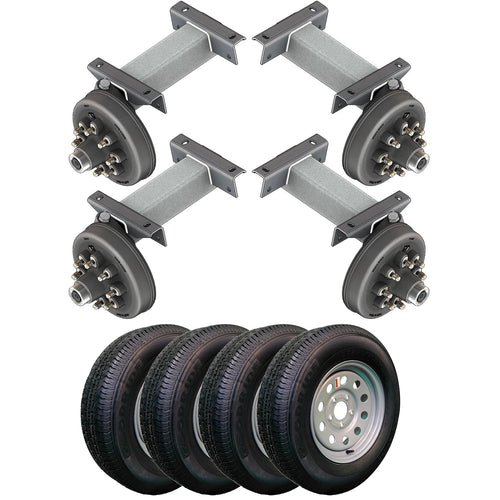 7000 lb TK Tandem Heavy Duty Torsion Axle Trailer Kit - 7K Capacity (Flex Original Series)