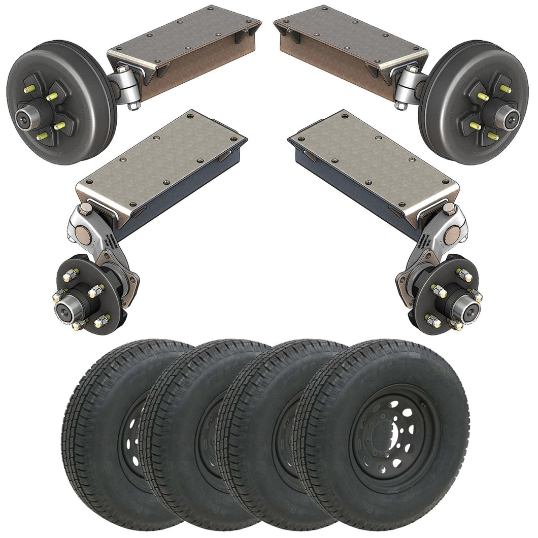 7000 lb TK Tandem Light Duty Torsion Axle Trailer Kit - 7K Capacity (Flex Midnight Series)