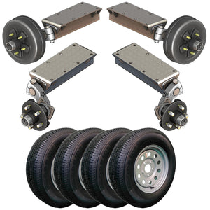 7000 lb TK Tandem Light Duty Torsion Axle Trailer Kit - 7K Capacity (Flex Original Series)