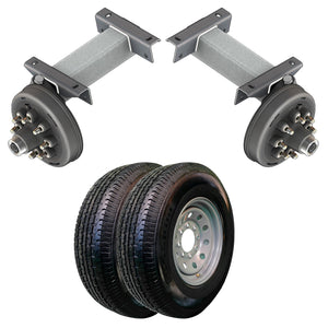 7000 lb TK Single Electric Brake Torsion Axle Trailer Kit - 7K Capacity HD (Flex Original Series)
