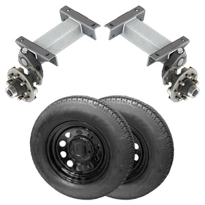 7000 lb TK Single Idler Torsion Axle Trailer Kit - 7K Capacity LD (Flex Midnight Series)