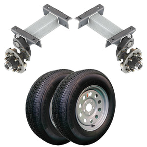 7000 lb TK Single Idler Torsion Axle Trailer Kit - 7K Capacity LD (Flex Original Series)