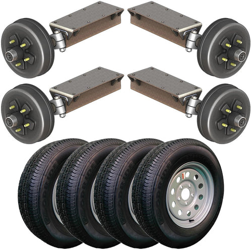 3500 lb TK Tandem Heavy Duty Torsion Axle Trailer Kit - 3.5K Capacity (Flex Original Series)