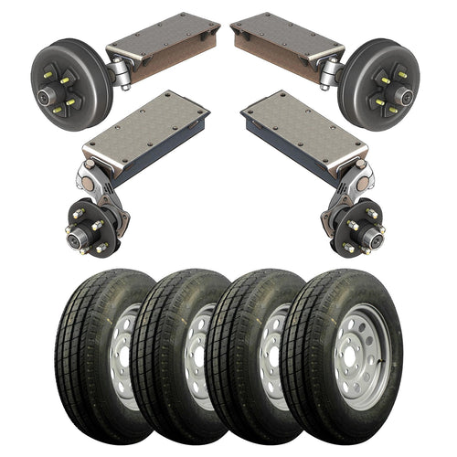 3500 lb TK Tandem Light Duty Torsion Axle Trailer Kit - 3.5K Capacity (Flex Original Series)