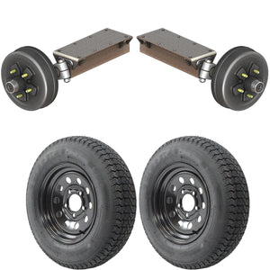 3500 lb TK Single Electric Brake Torsion Axle Trailer Kit - 3.5K Capacity HD (Flex Midnight Series)