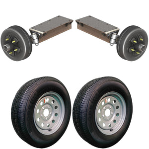 3500 lb TK Single Electric Brake Torsion Axle Trailer Kit - 3.5K Capacity HD (Flex Original Series)