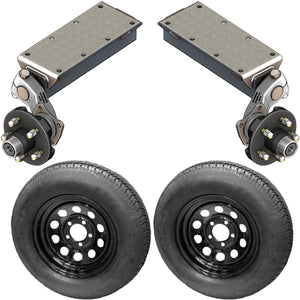 3500 lb TK Single Idler Torsion Axle Trailer Kit - 3.5K Capacity LD (Flex Midnight Series)