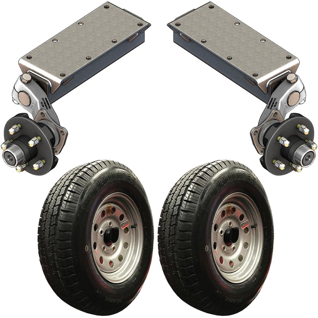 3500 lb TK Single Idler Torsion Axle Trailer Kit - 3.5K Capacity LD (Flex Original Series)