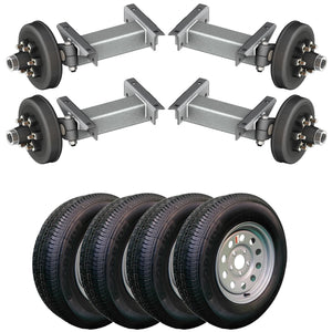 5200 lb TK Tandem Heavy Duty Torsion Axle Trailer Kit - 5.2K Capacity (Flex Original Series)