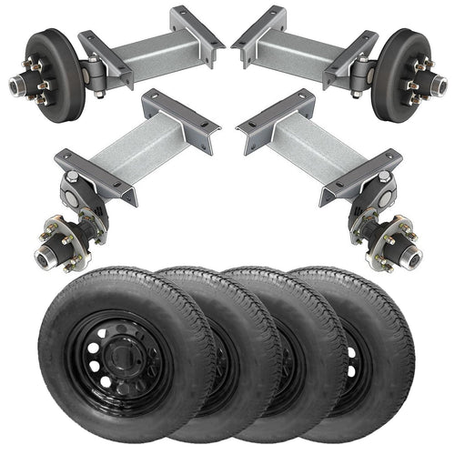 5200 lb TK Tandem Light Duty Torsion Axle Trailer Kit - 5.2K Capacity (Flex Midnight Series)