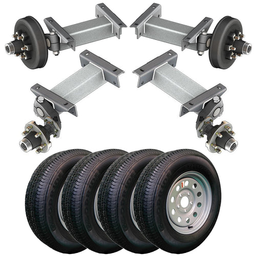 5200 lb TK Tandem Light Duty Torsion Axle Trailer Kit - 5.2K Capacity (Flex Original Series)
