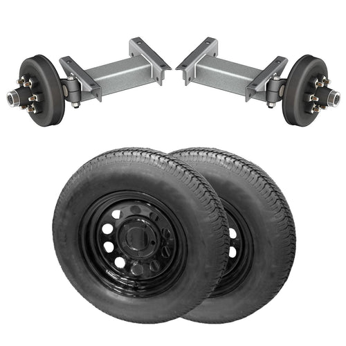 5200 lb TK Single Electric Brake Torsion Axle Trailer Kit - 5.2K Capacity HD (Flex Midnight Series)