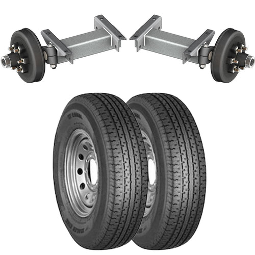 5200 lb TK Single Electric Brake Torsion Axle Trailer Kit - 5.2K Capacity HD (Flex Original Series)