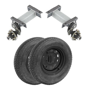 5200 lb TK Single Idler Torsion Axle Trailer Kit - 5.2K Capacity LD (Flex Midnight Series)