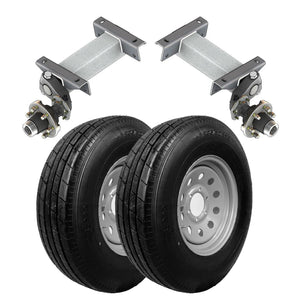 5200 lb TK Single Idler Torsion Axle Trailer Kit - 5.2K Capacity LD (Flex Original Series)