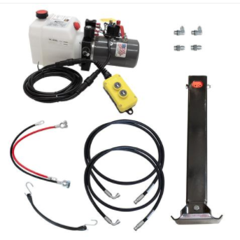 12K Single Hydraulic Trailer Jack Kit