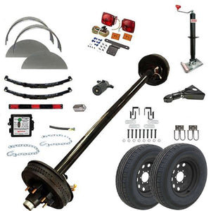 6000 lb TK Single Axle Trailer Parts Kit - 6K Capacity HD (Complete Midnight Series)