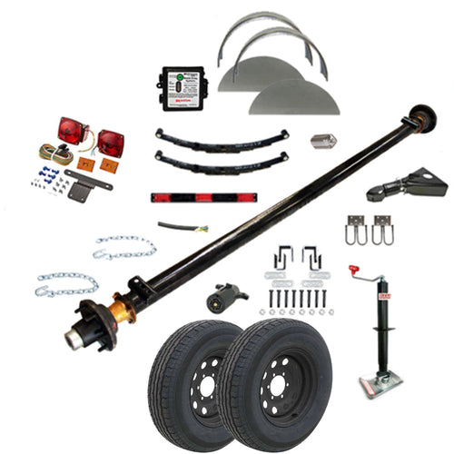 6000 lb TK Single Axle Trailer Parts Kit - 6K Capacity LD (Complete Midnight Series)