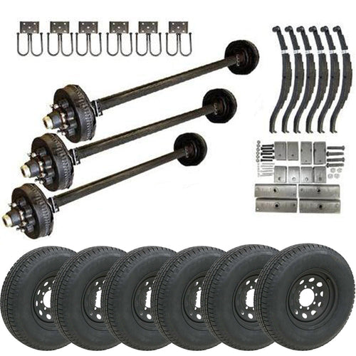 7k Triple Axle TK Trailer kit - 21000 lb Capacity (Midnight Series)