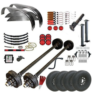 7000 lb TK Tandem Axle Gooseneck Trailer Parts Kit - 14K Capacity HD (Complete Midnight Series)