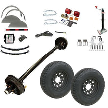 7000 lb TK Single Axle Trailer Parts Kit - 7K Capacity HD (Complete Midnight Series)