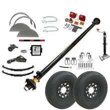 7000 lb TK Single Axle Trailer Parts Kit - 7K Capacity LD (Complete Midnight Series)