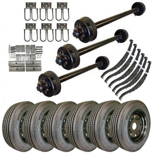 9k Triple Axle TK Trailer kit - 27000 lb Capacity (Midnight Series)