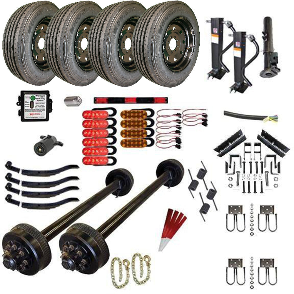 9000 lb TK Tandem Axle Gooseneck Trailer Parts Kit - 18K Capacity HD (Complete Midnight Series)
