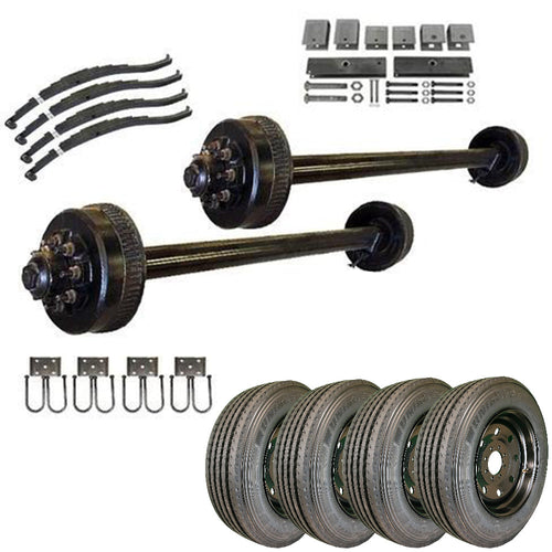 9k Tandem Axle TK Trailer kit - 18000 lb Capacity (Midnight Series) -  (Please Call for Availability)