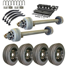 12k Tandem Axle TK Trailer kit - 24000 lb Capacity - Super Single (Midnight Series)
