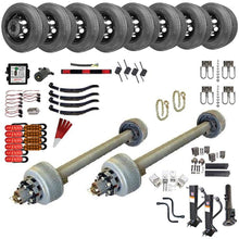 12,000 lb TK Tandem Axle Gooseneck Trailer Parts Kit - 24K Capacity HD (Complete Midnight Series)