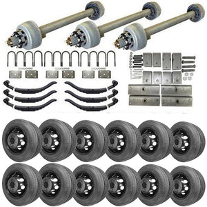 12k Triple Axle TK Trailer kit - 36000 lb Capacity (Midnight Series)
