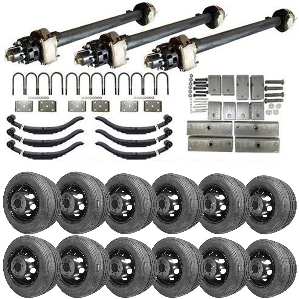 12k Triple Axle Hydraulic TK Trailer kit - 36000 lb Capacity (Midnight Series)