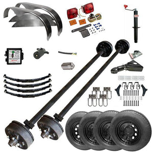 3500 lb TK Tandem Axle Trailer Parts Kit - 7K Capacity HD (Complete Midnight Series)