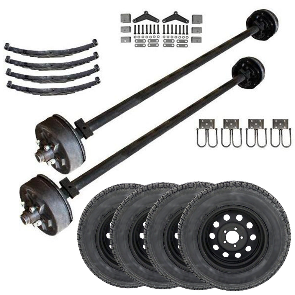3.5k Heavy Duty Tandem Axle TK Trailer kit - 7000 lb Capacity (Midnight Series)