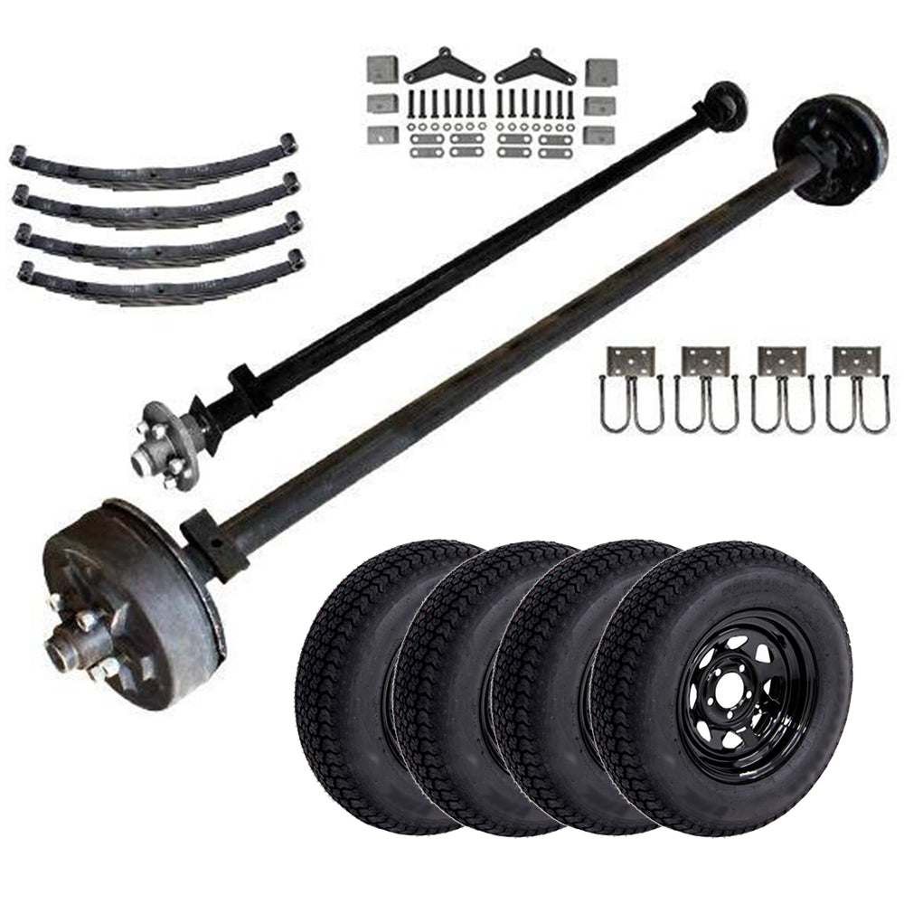 3.5k Light Duty Tandem Axle TK Trailer kit - 7000 lb Capacity (Midnight Series)