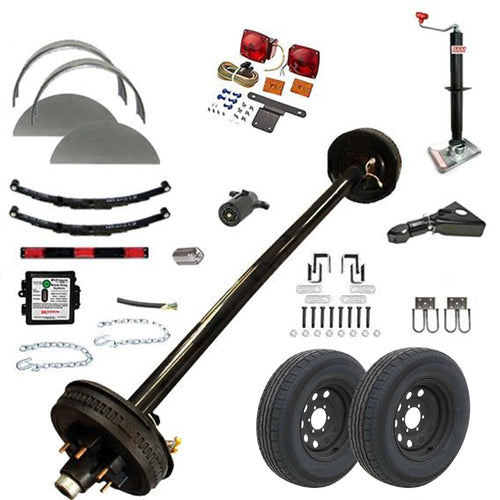 5200 lb TK Single Axle Trailer Parts Kit - 5.2K Capacity HD (Complete Midnight Series)