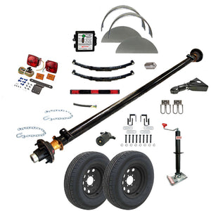 5200 lb TK Single Axle Trailer Parts Kit - 5.2K Capacity LD (Complete Midnight Series)