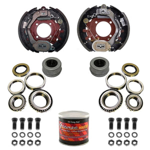 "8000 lb Trailer Axle DEXTER Nev-R-Adjust Electric Brake Complete Replacement Kit - 8k Capacity - (12.25""x3.375"" Right and Left)"