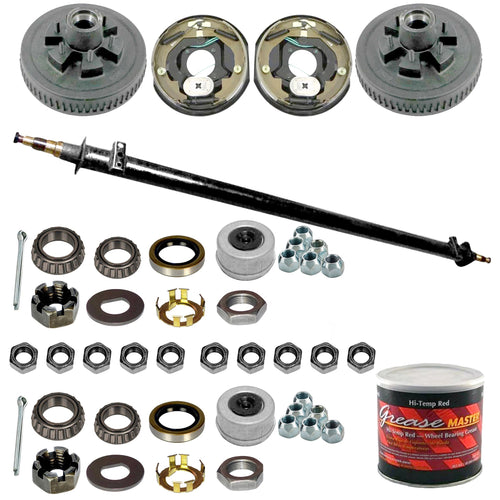 Dexter 5200 lb Build Your Own Electric Brake Trailer Axle Kit - 5.2k Capacity (12
